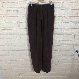 VTG Melrose Silk High Waisted Pants Buttery Soft 8